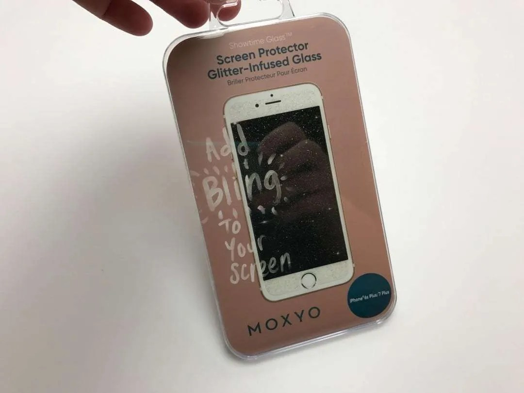 Moxyo Showtime Glitter Glass Screen Protector