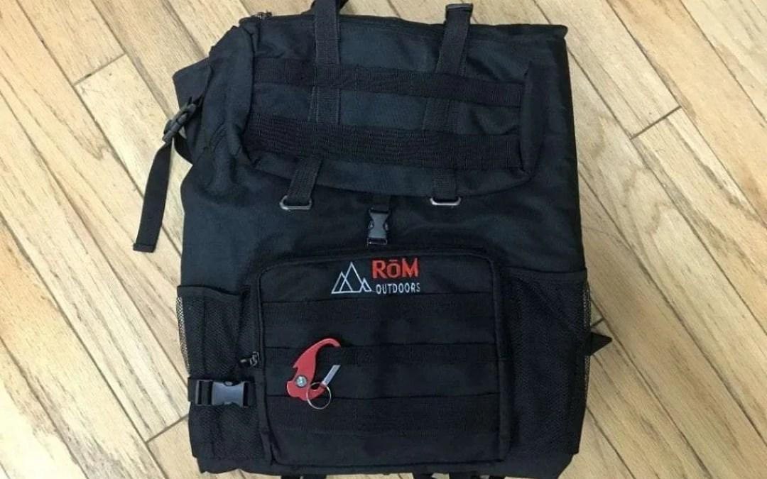 RōM Backpack REVIEW All Roads lead to RōM.