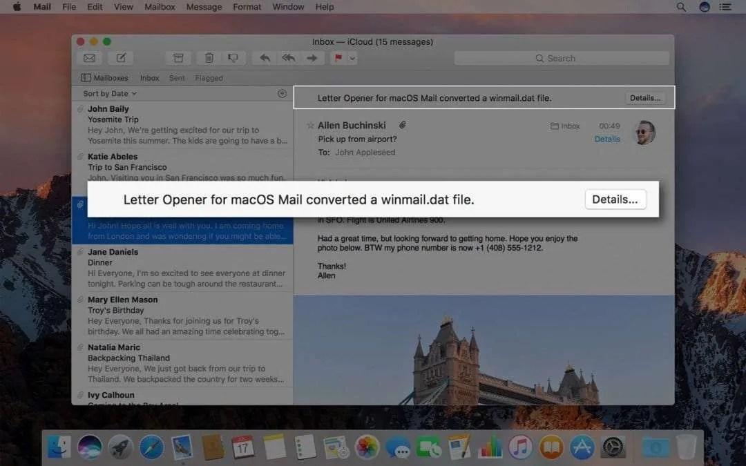 Letter Opener macOS Mail Sponsor
