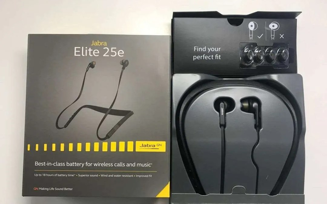 11c5e39077f41f Jabra Elite 25e Earphones REVIEW Extra long Battery allows for all day  comfortable listening experience.