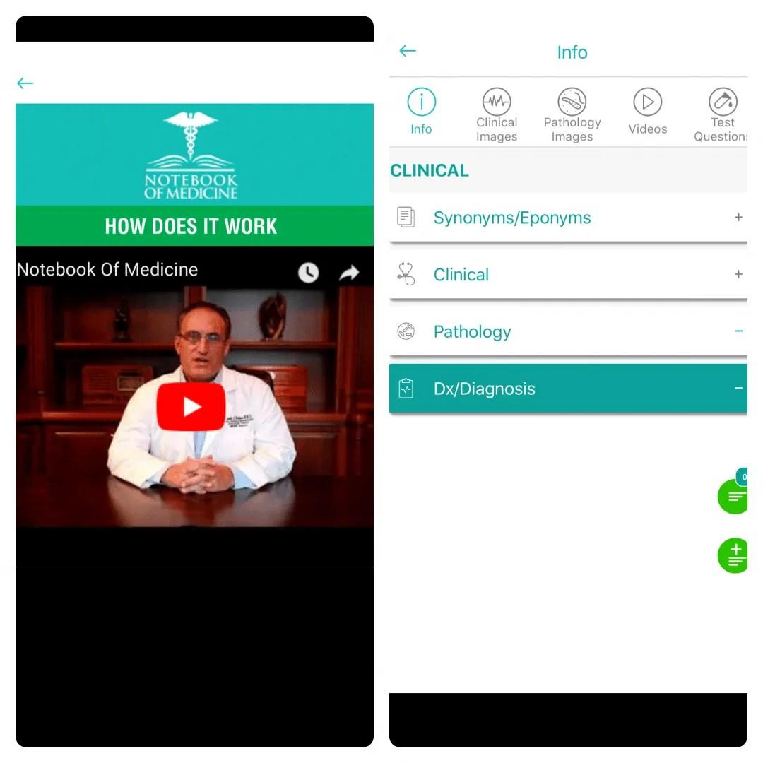 Notebook of Medicine iOS App REVIEW