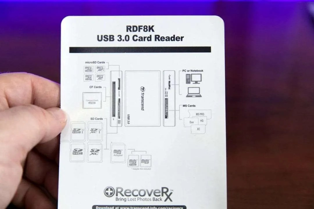 Transcend RDF8K USB 3.0 Super Speed Multi-Card Reader REVIEW