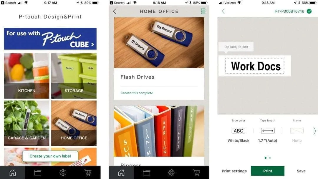 P-Touch Cube Smartphone Dedicated Label Maker REVIEW
