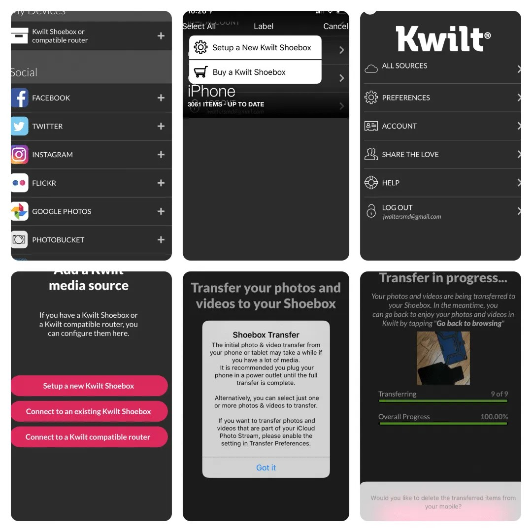 Kwilt App Collage