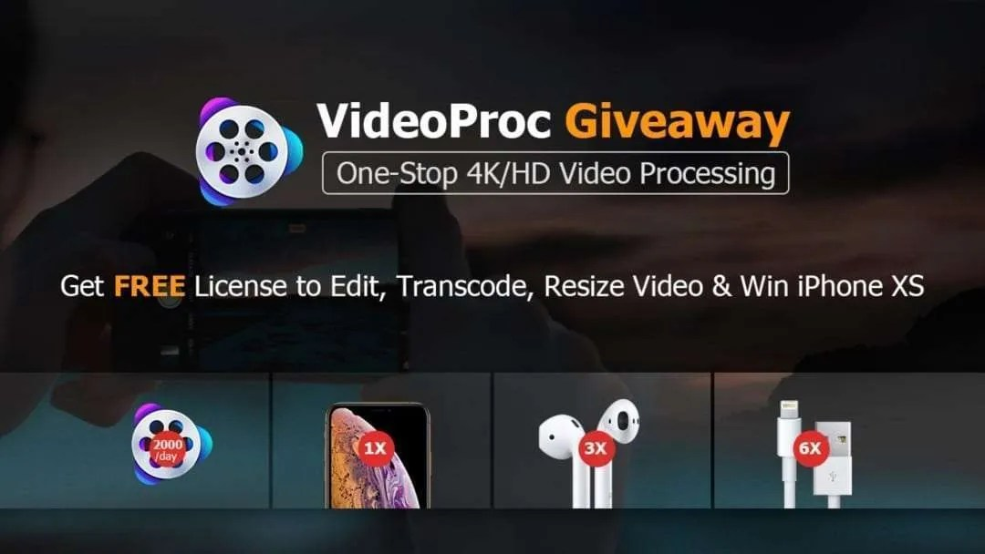 Giveaway: get VideoProc to Process 4K/HD Videos with full GPU