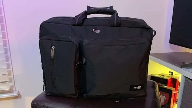 SOLO Duane Hybrid Briefcase Backpack REVIEW  735f5140819b6