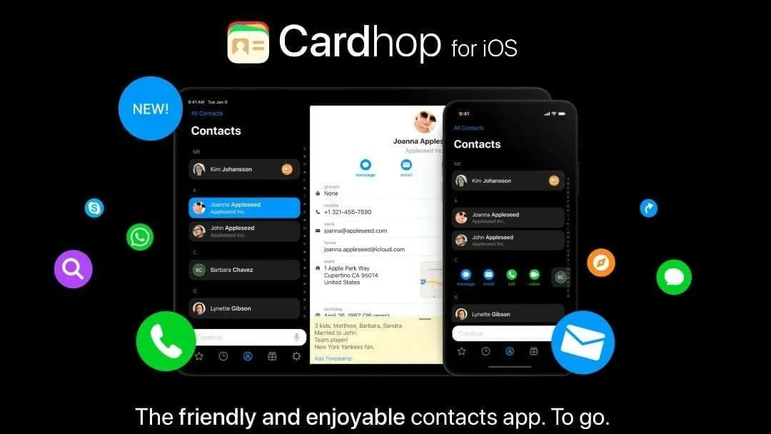 Flexibits Releases Cardhop for iOS NEWS