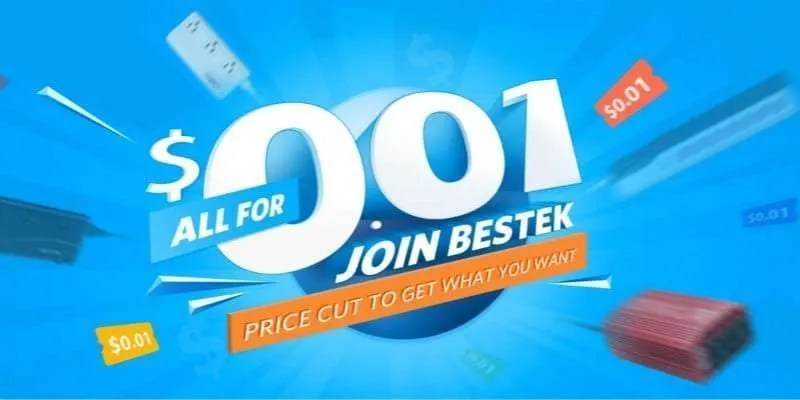 Save up to 99% with BESTEK Price Cut to $0.01
