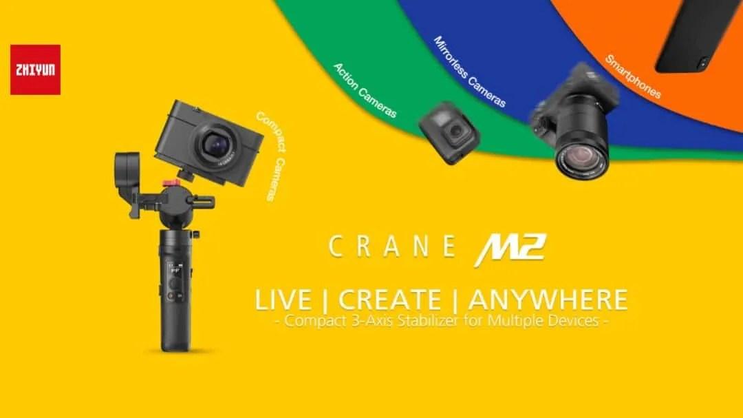 Zhiyun Announces CRANE-M2, the Most Versatile Compact Stabilizer NEWS