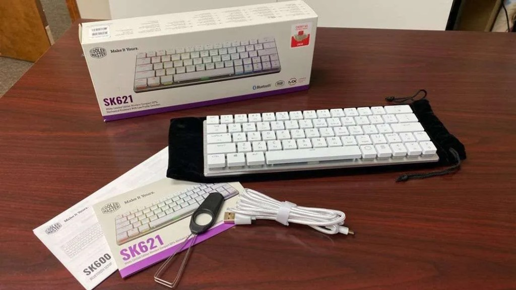 Cooler Master SK621 White Wireless Mechanical Keyboard REVIEW