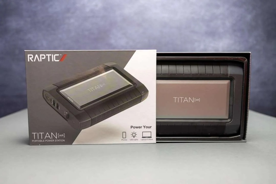 RAPTIC TITAN AIR PORTABLE POWER BANK