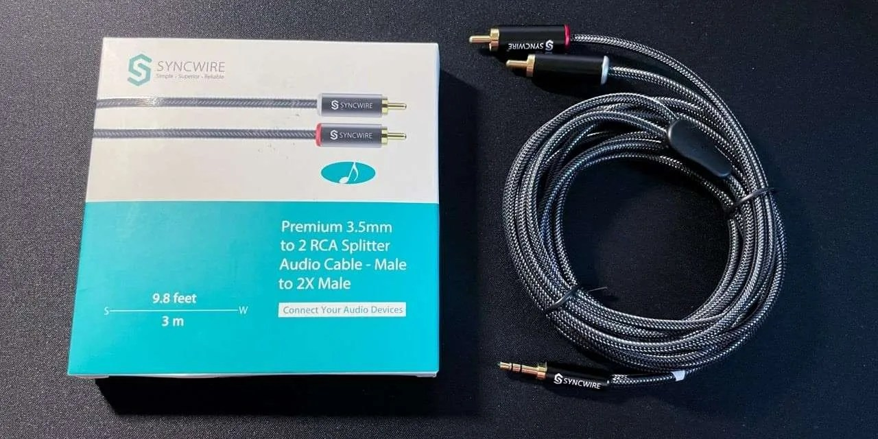 SyncWire 3.5mm to 2-Male RCA Adapter Audio Stereo Cable  REVIEW