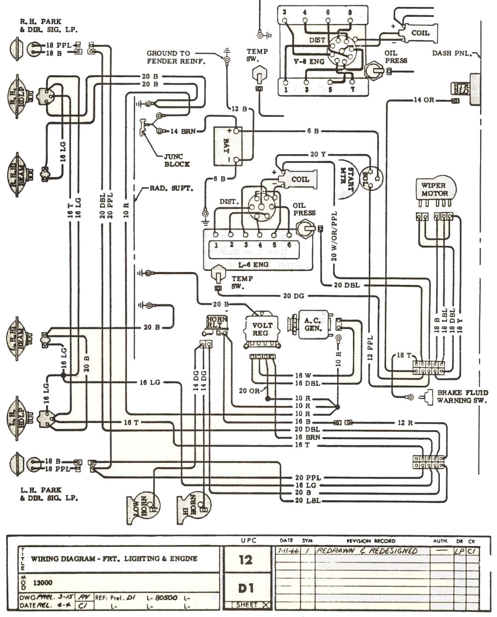 1966 chevelle engine harness diagram