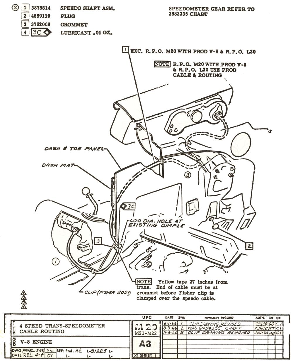 medium resolution of 1967 muncie speedometer cable length and routing 1967 chevelle wiring diagram pdf 1967 chevelle dash wiring diagram