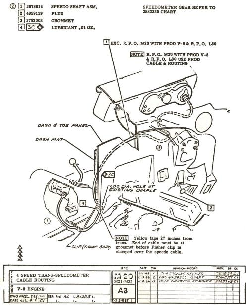 small resolution of 1967 muncie speedometer cable length and routing 1967 chevelle wiring diagram pdf 1967 chevelle dash wiring diagram