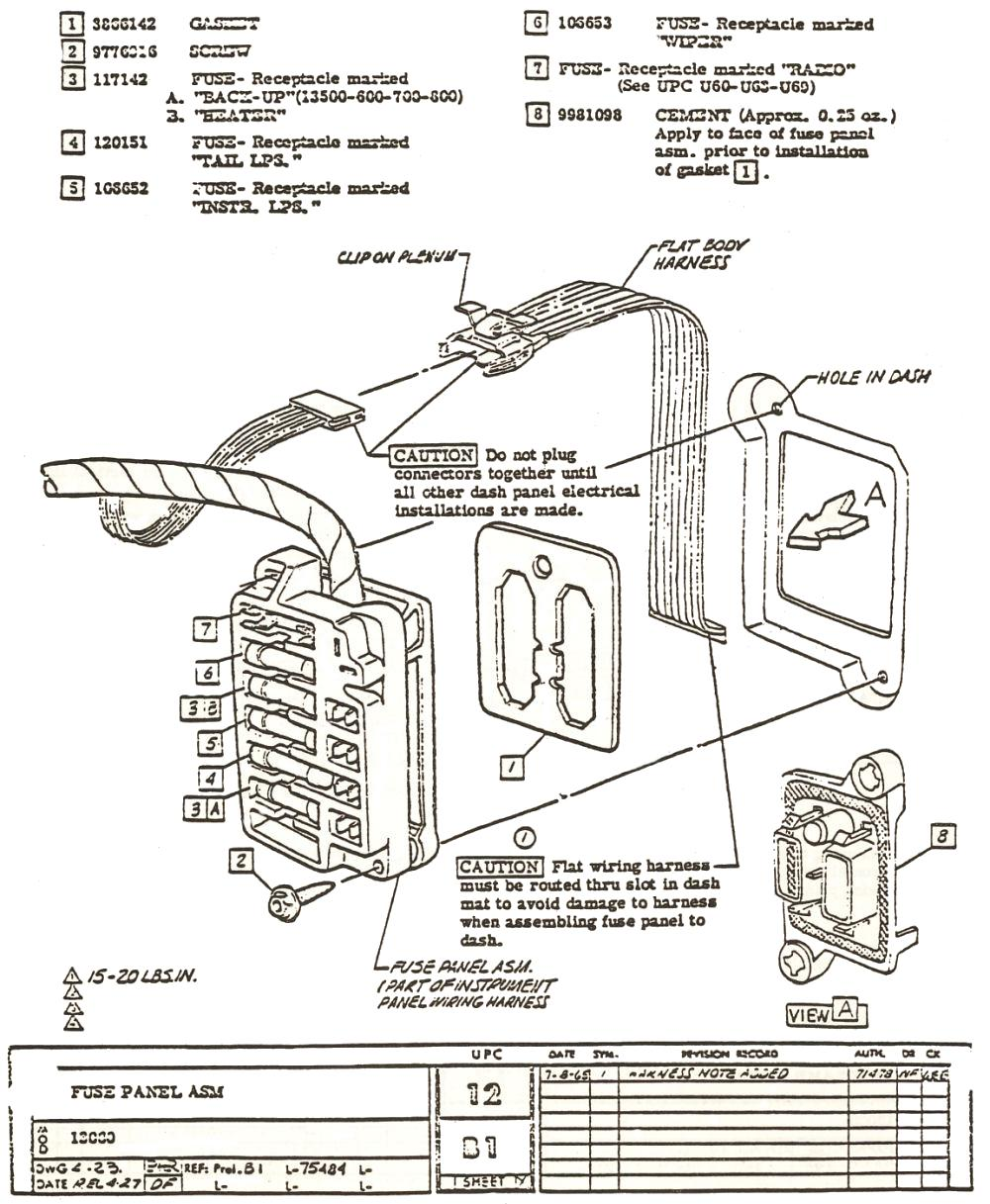 a diagram of fuses 2004 chevy classic