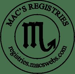 MAC'S REGISTRIES