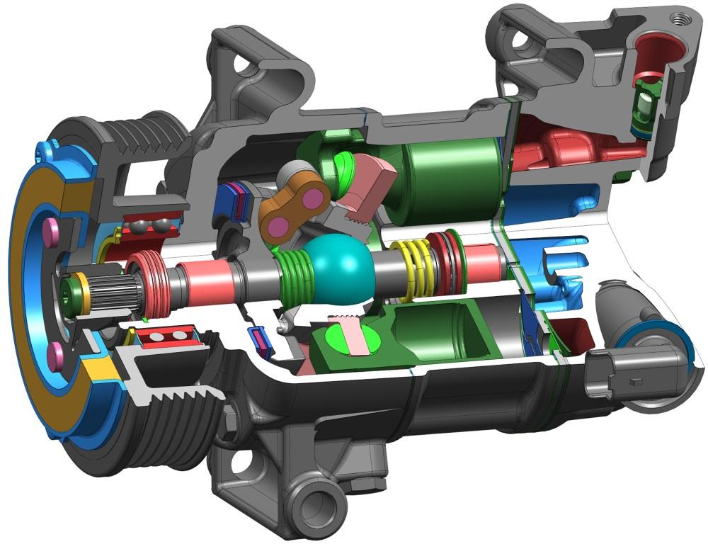 medium resolution of variable displacement a c compressor