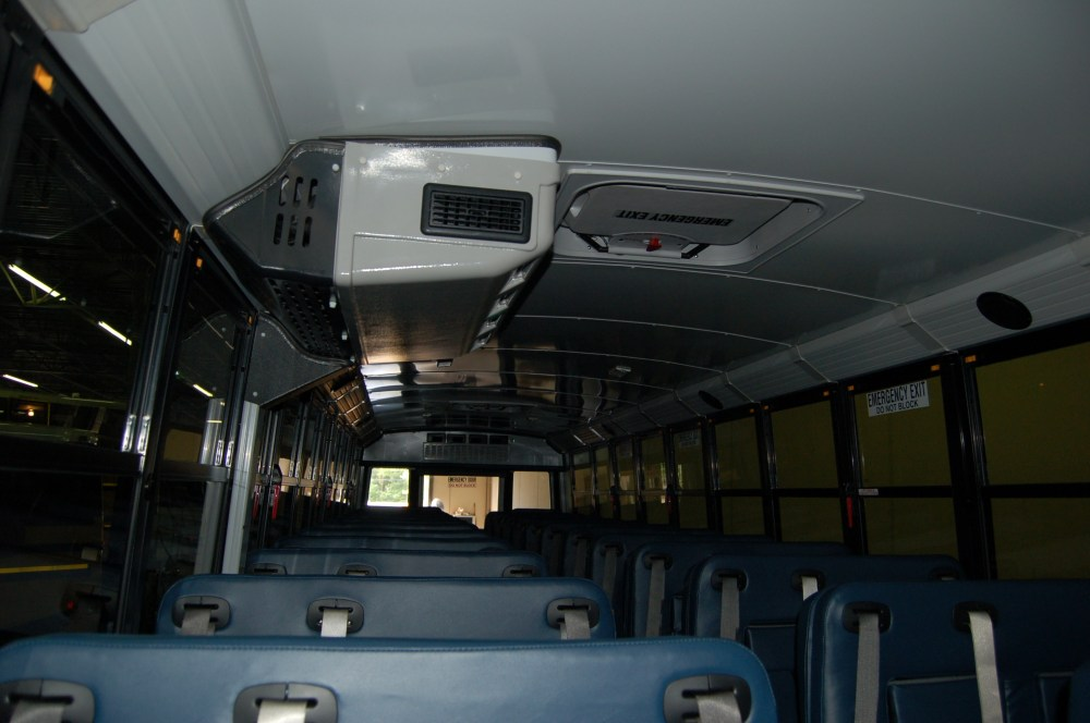medium resolution of bus a c systems are typically referred to by their installed location front mid and rear this mid unit hangs from the ceiling while the rear unit is