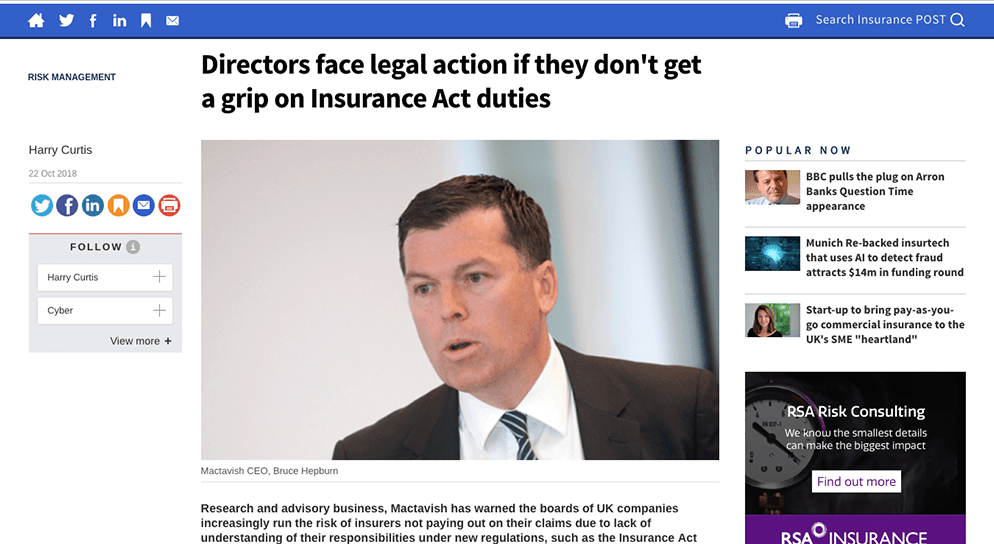 """The Insurance Post – """"Directors face legal action"""""""