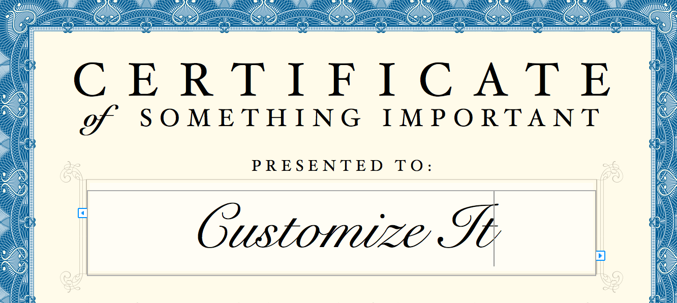 blank certificate templates