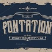 Creativemarket FONTATION Bundle of 3 Retro Typeface 299044 icon