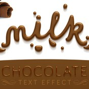 Chocolate text effect 394358 icon
