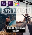 SAM KOLDER 2018 Pro Color Grading – 5 Lut Pack for Final Cut Pro X, Adobe Premiere Pro, After Effects and more