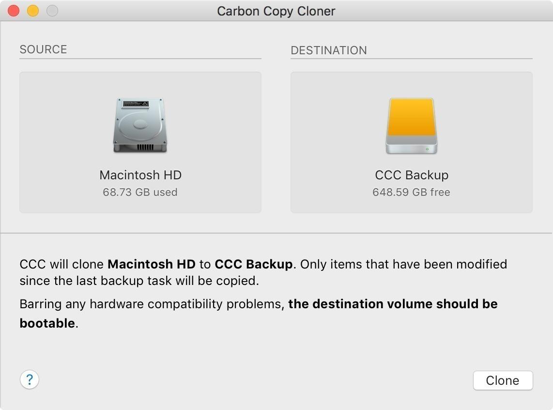 Carbon Copy Cloner 5110 Screenshot 01