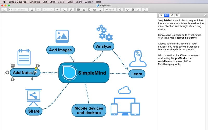 SimpleMind - Mind Mapping Screenshot 1