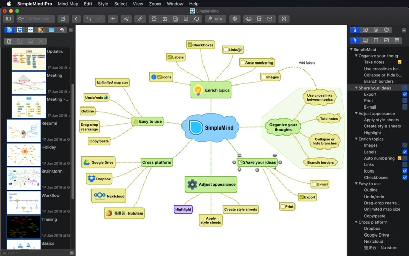 SimpleMind - Mind Mapping Screenshot 4