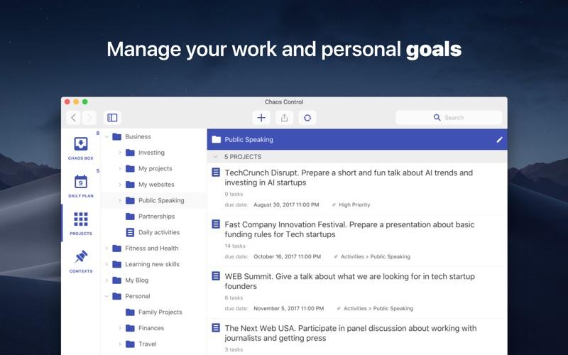 Chaos Control™: GTD Organizer Screenshot 1