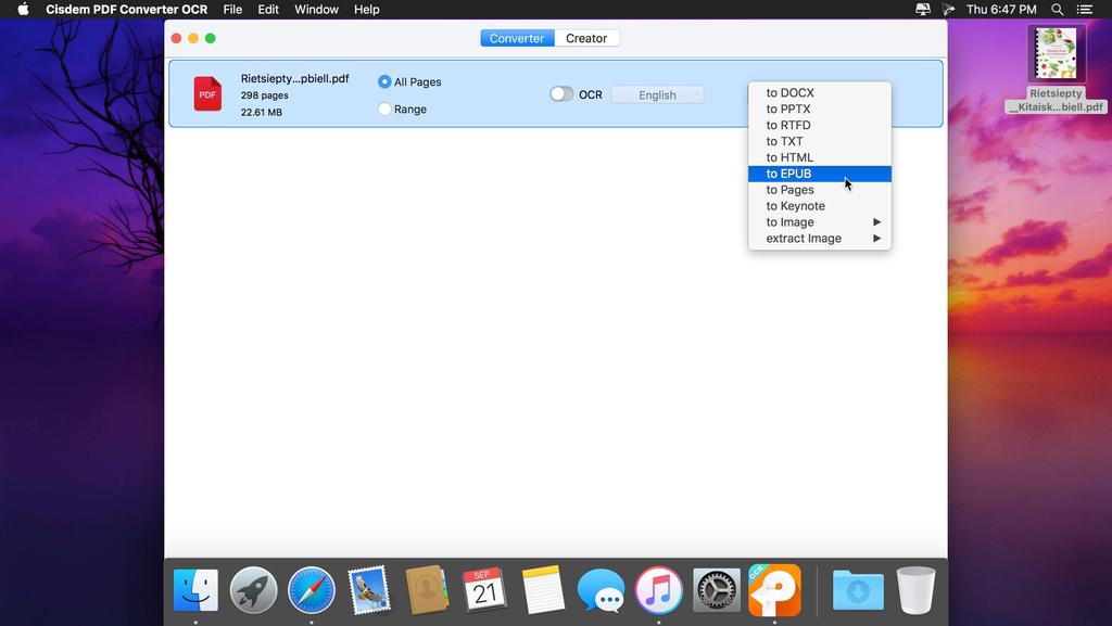 Cisdem PDF Converter OCR 710 Screenshot 03