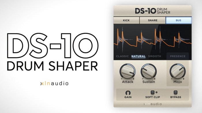 XLN Audio DS_10 Drum Shaper v105 Win Mac Screenshot 01 1q2k80iy