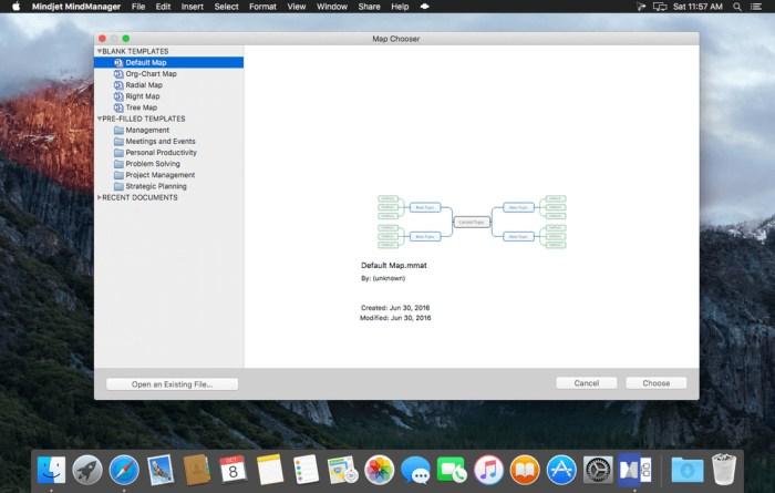 Mindjet MindManager for Mac 121190 Screenshot 01 15hd5d3n