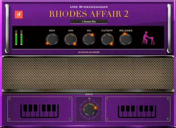 Audiolounge Urs Wiesendanger Rhodes Affair 2 Preset Player AU VST Screenshot 01 re022jy