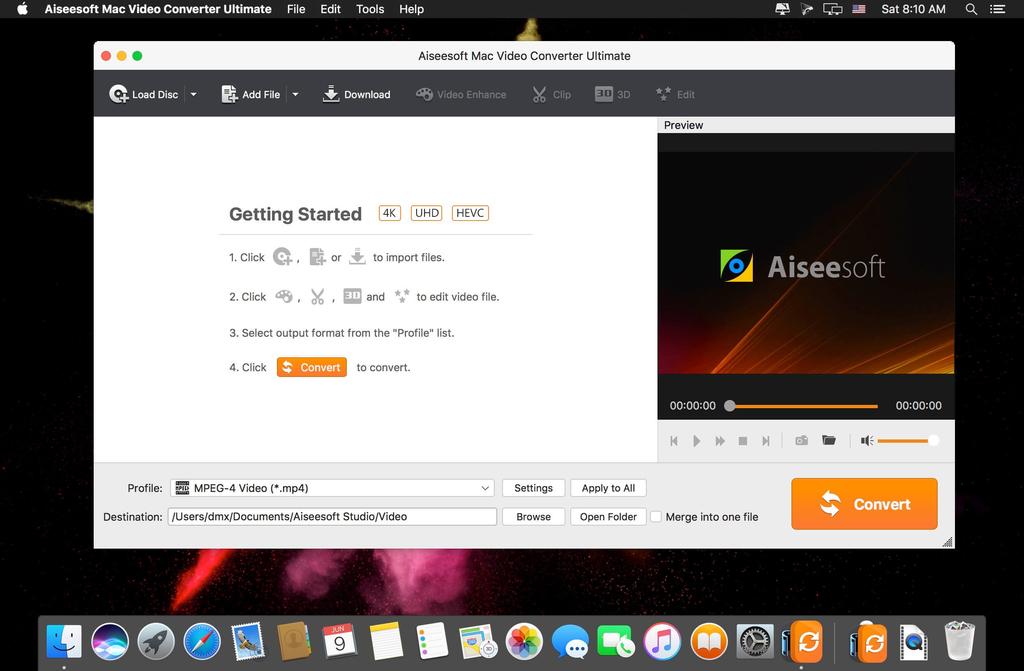 Aiseesoft Mac Video Converter Ultimate 9232 Screenshot 01 13sl85cy