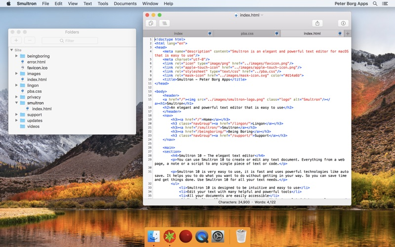 Smultron 10 - Text editor Screenshot 03 tb0hqgy
