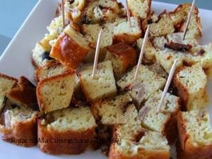 Cake salé légumes grillés et feta sans gluten