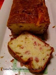 Cake salé deux fromages et jambon sans gluten