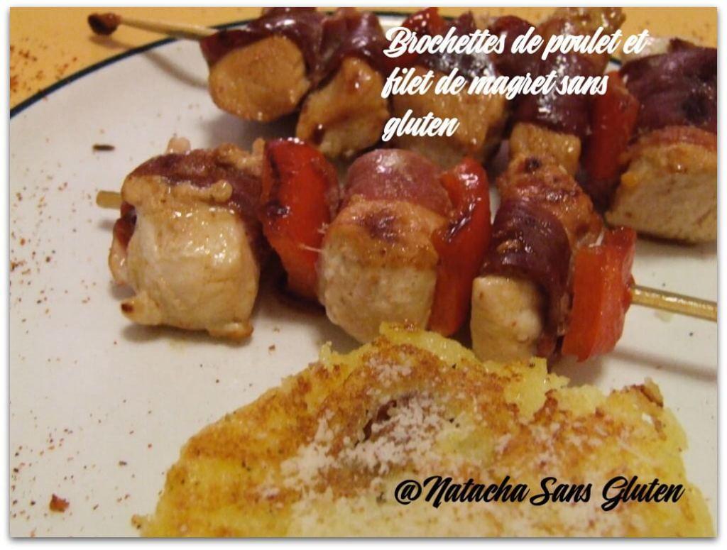 Brochettes-poulet-et-magret-sans-gluten