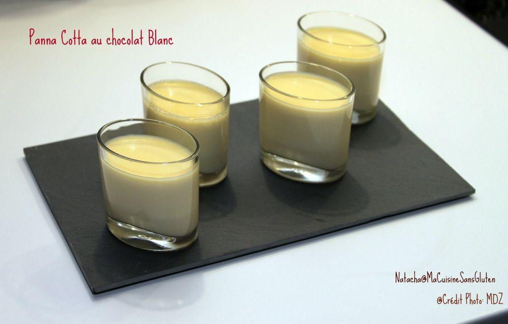 Panna Cotta chocolat blanc sans gluten