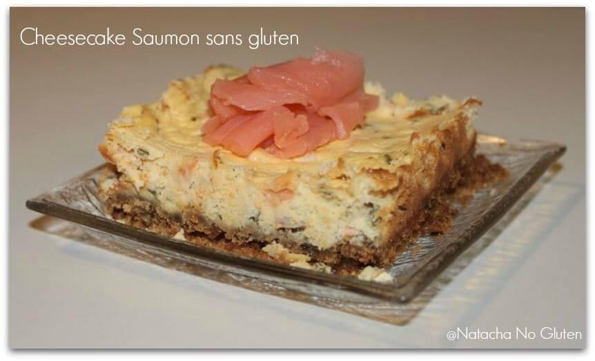 Cheesecake saumon sans gluten
