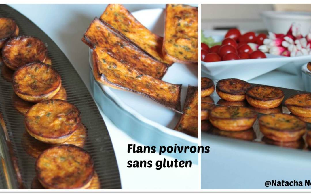 Flans poivrons sans gluten