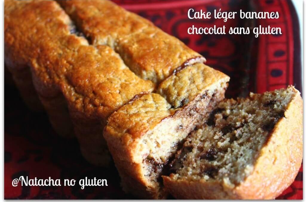 Cake léger bananes chocolat sans beurre sans gluten