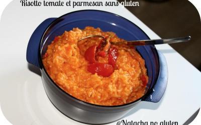 Risotto tomate et parmesan sans gluten