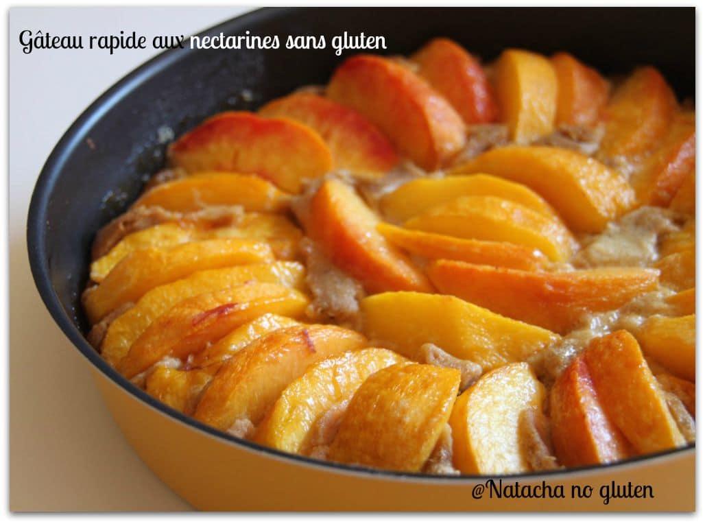 gateau-rapide-nectarines-sans-gluten