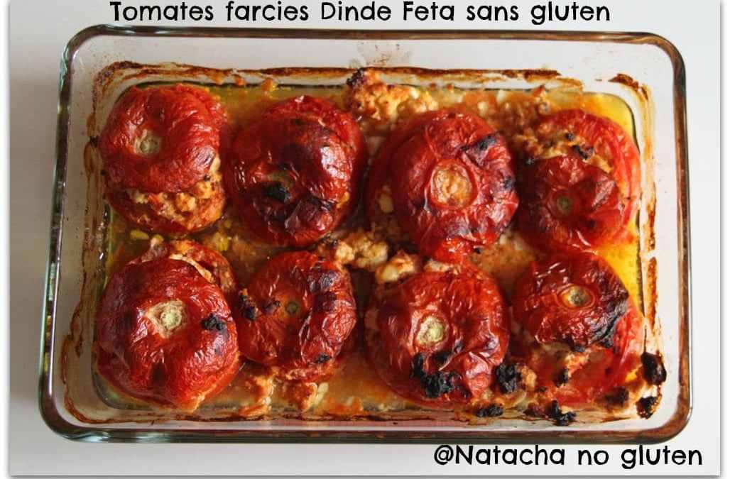 Tomates farcies dinde et feta sans gluten