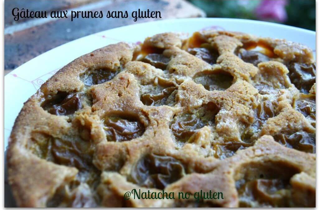 Gâteau aux prunes sans gluten