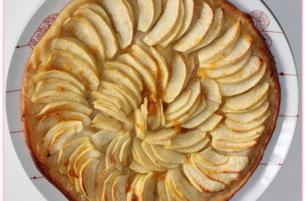 Tarte aux pommes sans gluten (pâte feuilletée Croustipate)
